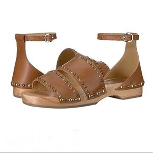 Free People Brown Leather Boho Style Sandals Sz 8